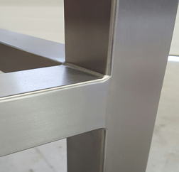 stainless steel seamless contour clean room table