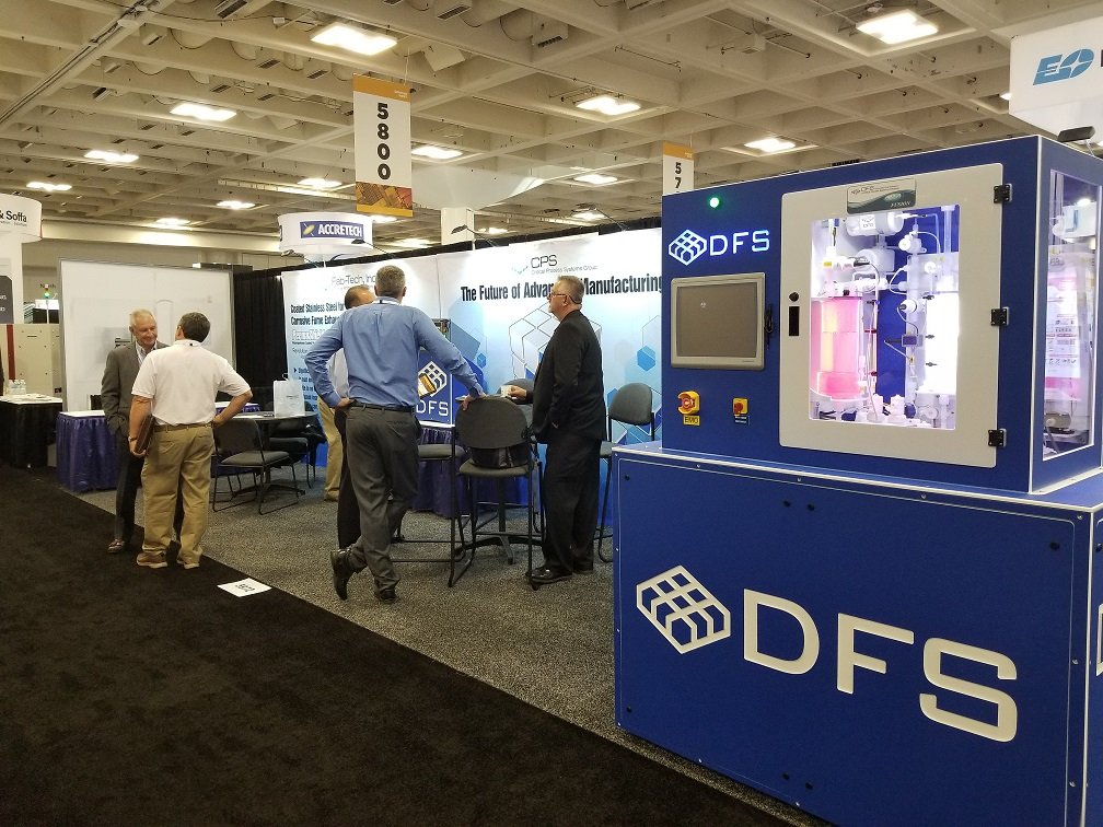 Visitors to DFS Booth at Semicon West 2019