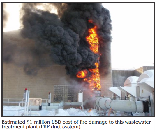 FRP duct fire at wastewater treatment facility.png