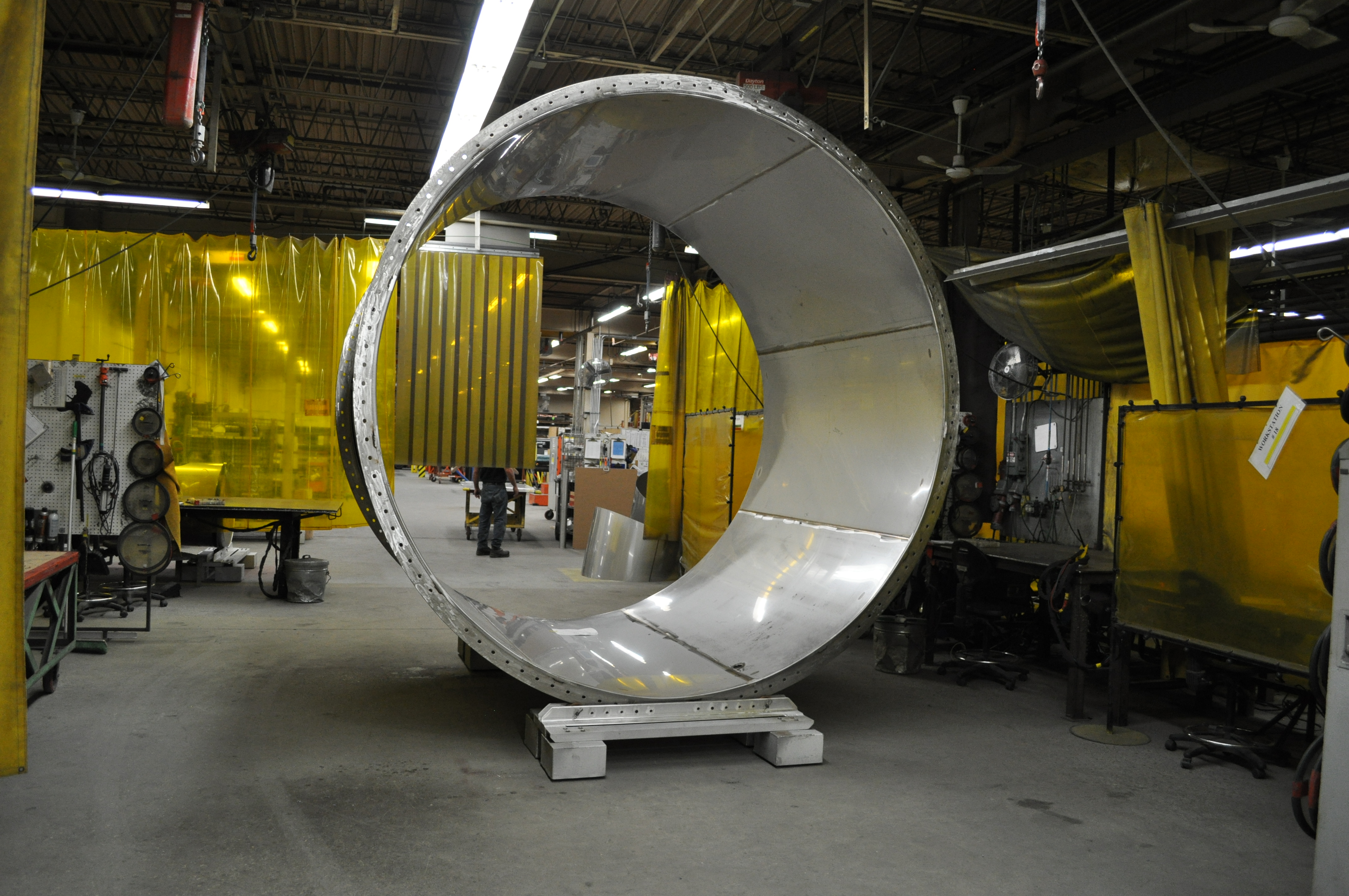 """Fab-Tech's first 120"""" diameter fume exhaust duct (pre-coated)"""