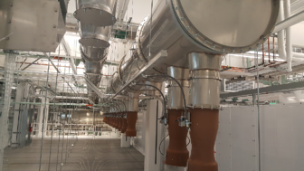 MIT clean room PSP overhead exhast duct system