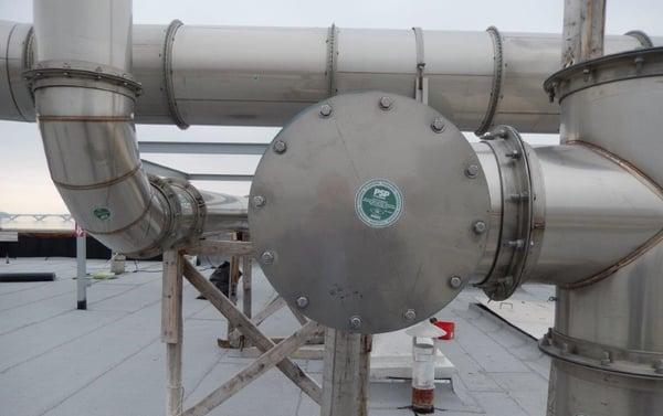 Permashield Pipe at Blue Plains biosolids management facility