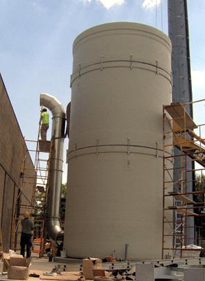 Permashield Pipe on biofiltration bioreactor