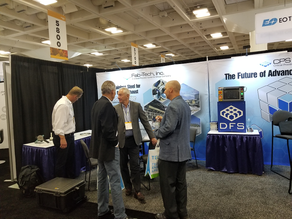 Visitors to Fab-Tech Booth at Semicon West 2019