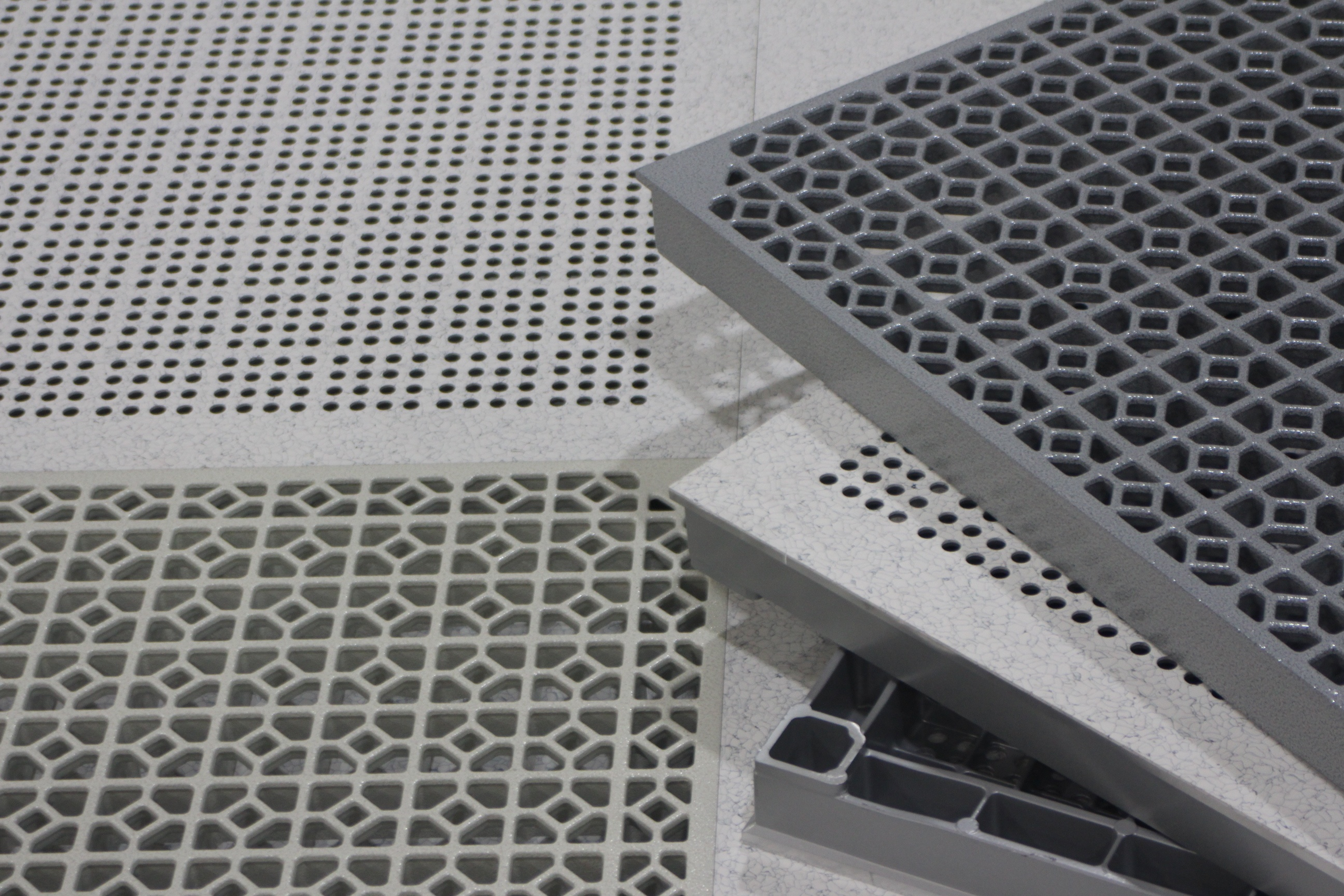 Perforated and Grated Raised Floor Tiles