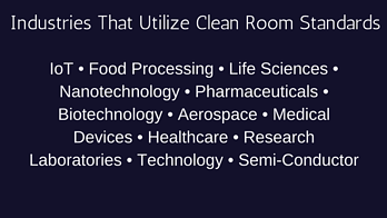 Industries that utilize clean room standards