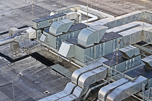 Rooftop AC and ventilation system